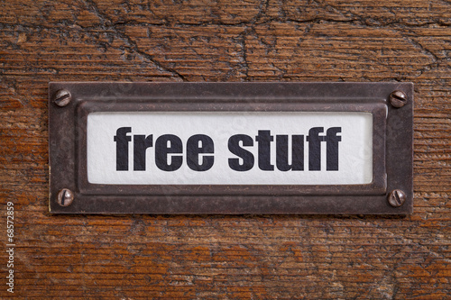 Fotografie, Obraz  free stuff  - file cabinet label