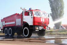 The Fire Truck Extinguishes Th...