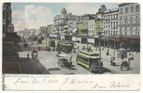 Photo  New Orleans, Canal Street 1907 (hist. Postkarte)