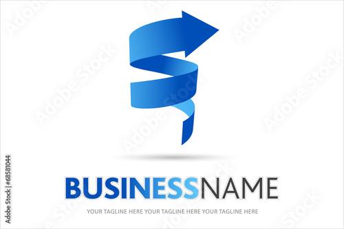 Foto op Aluminium Spiraal logo spirale, logo azienda, vortice, sole