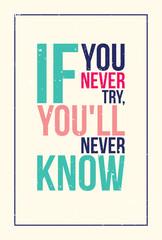 Fototapeta colorful inspiration motivation poster. Grunge style
