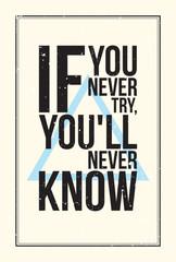 Fototapeta Inspiration motivation poster. Grunge style