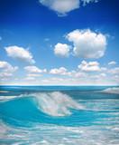 Fala na błękitnym oceanie