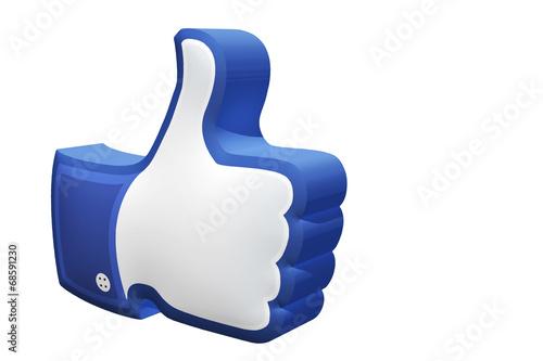 Thumb up, i like it Canvas Print