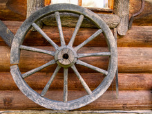 Hand Spinning Wheel On  Wall O...