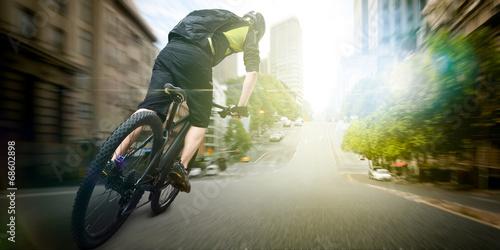 Fotografie, Obraz  bike courier