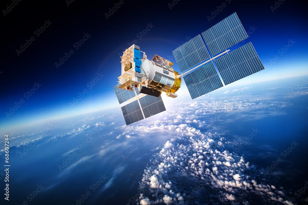 Fototapety, obrazy: Satelita kosmiczny na planecie Ziemia