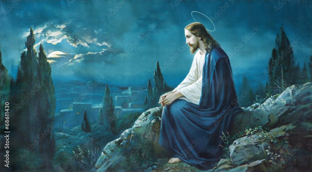 Fotografija  The prayer of Jesus in the Gethsemane garden.