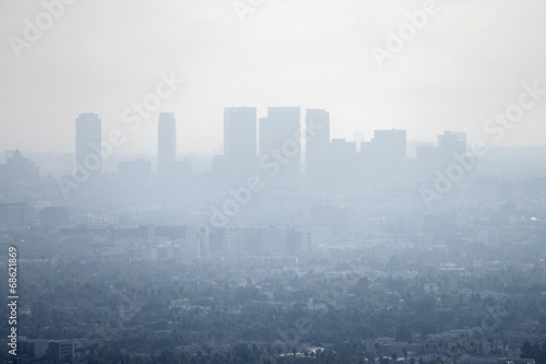 Photo sur Toile Los Angeles Los Angeles Smog