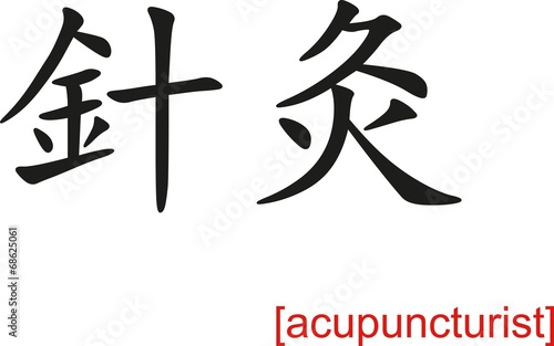 Chinese Sign for acupuncturist Canvas Print