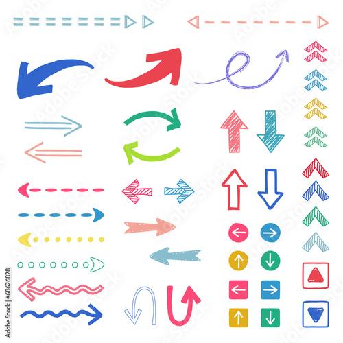 Fotografía  手描き矢印セット / vector eps10