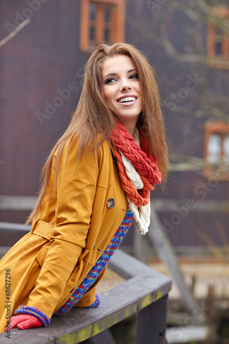 Poster Gypsy Autumn woman