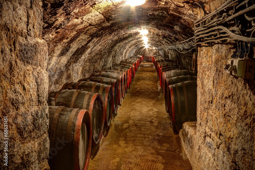 Wine cellar in Tokaj, Hungary Wallpaper Mural