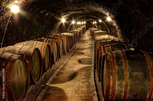 Wine cellar in Tokaj, Hungary Canvas Print