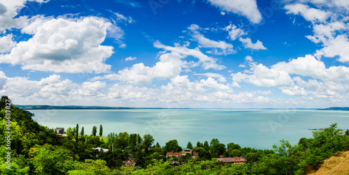 Photo  View of Balaton lake from Tihany abbey - Hungary