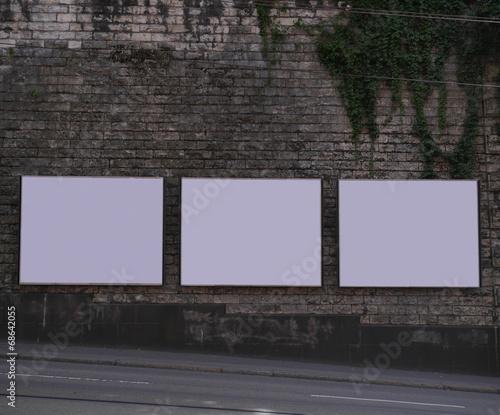 Valla publicitaria vacia Wallpaper Mural