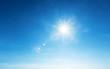 Leinwandbild Motiv blue sky and sun