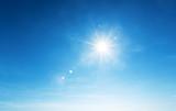 Fototapeta Na sufit - blue sky and sun