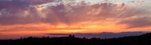 Panoramic Photo Of Vibrant Sunset