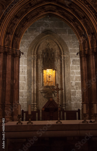 Fotografie, Obraz  The Holy Grail, Valencia Cathedral, Spain