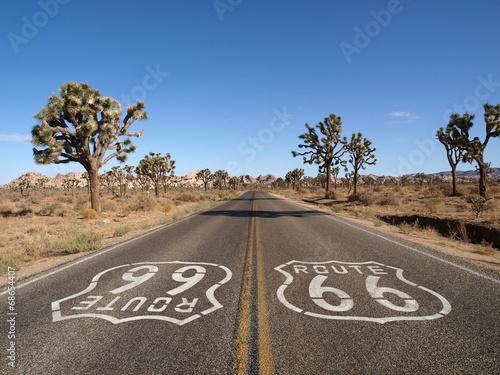 In de dag Route 66 Route 66 Desert