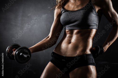 Photo Fitness with dumbbells