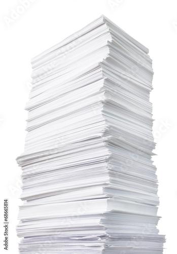 Fotografía  huge paper stack