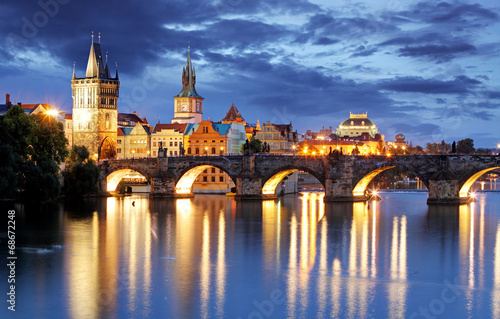 Printed kitchen splashbacks Prague Prague - Charles bridge, Czech Republic