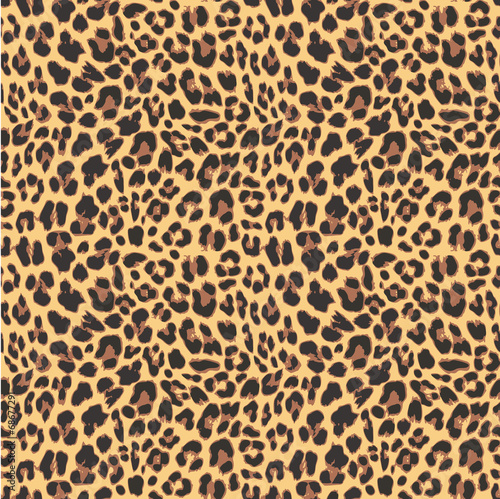 Leopard seamless pattern design, vector illustration background Canvas Print