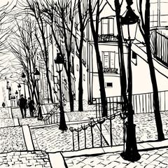 Fototapeta Do kawiarni Montmartre Paris