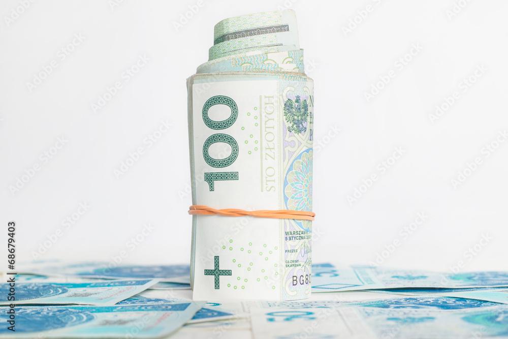 Fototapeta Waluta - pieniądze - faktura - finanse