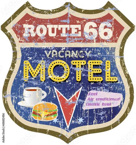 retro route 66 Motel sign,vector eps