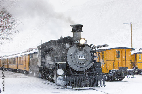 Fotografie, Obraz  Durango and Silverton Narrow Gauge Railroad, Colorado, USA