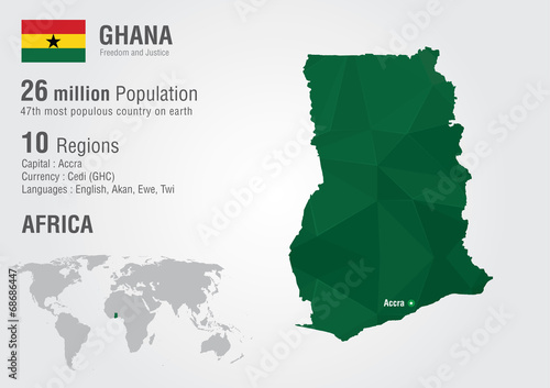Ghana world map with a pixel diamond texture buy this stock ghana world map with a pixel diamond texture gumiabroncs Choice Image