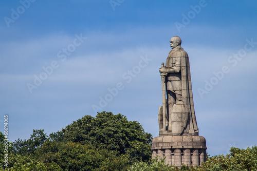 Bismarck Denkmal in Hamburg Fotobehang