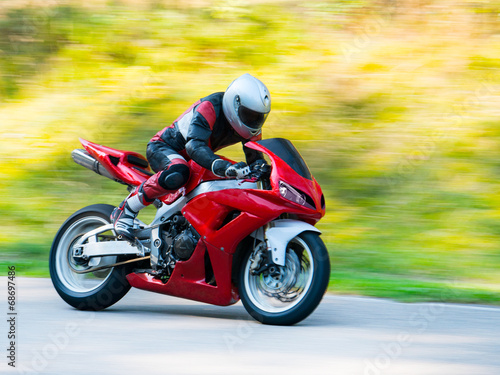 Motorbike racing Canvas Print