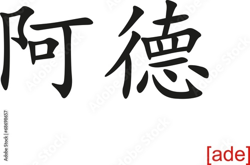 Chinese Sign for ade Wallpaper Mural