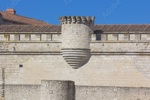 Staande foto Industrial geb. Celebrities great castle of the city of Cuellar, Spain