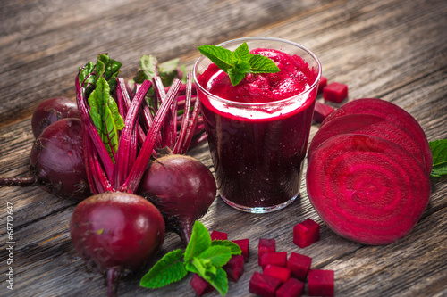 Foto op Plexiglas Sap Beetroot Juice