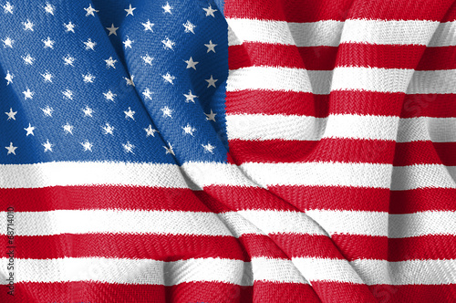 Fotografie, Obraz Fahne USA