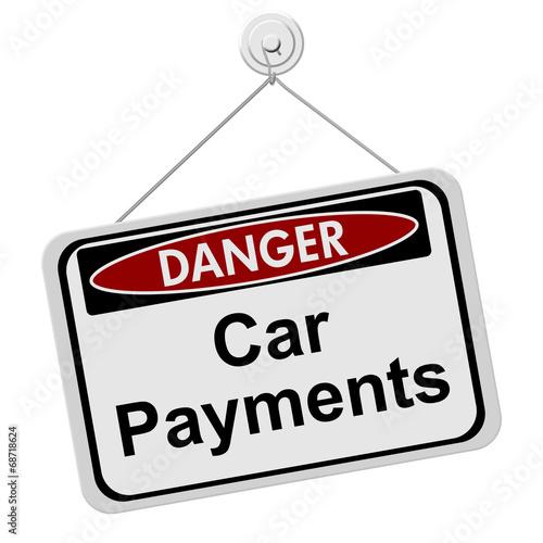 Fotografie, Obraz  Dangers of having Car Payment