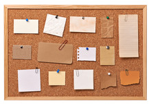 Note Paper Corkboard Label Mes...
