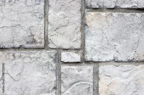 Fototapeten Künstlich old stone block wall