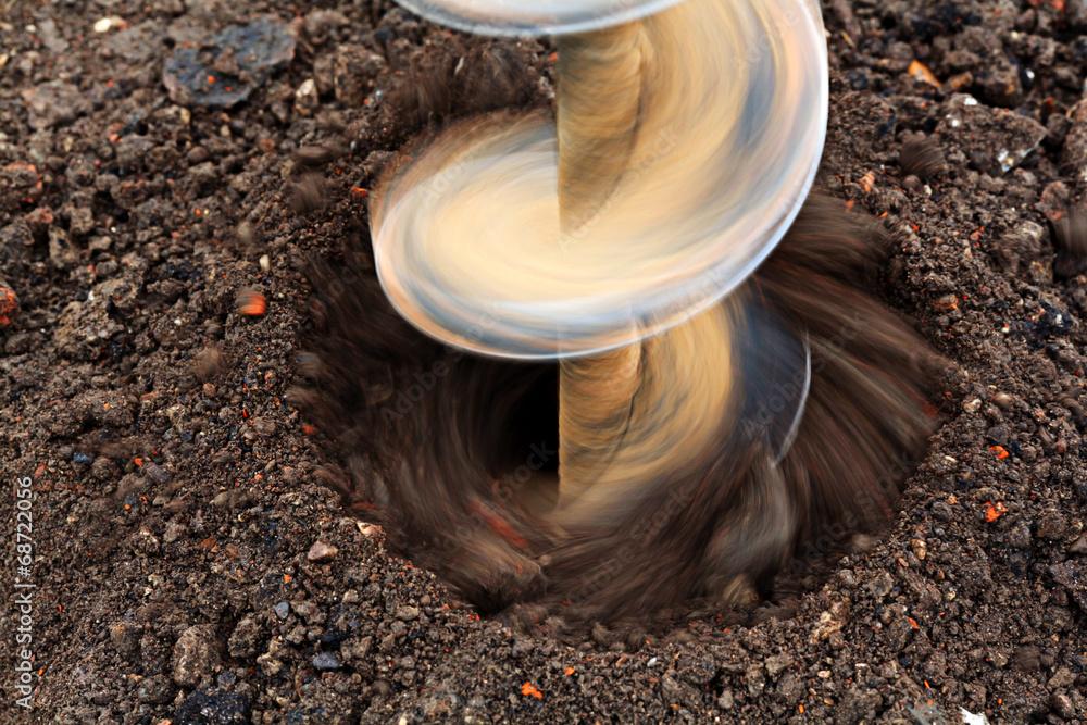 Fototapety, obrazy: drilling drill ground