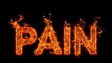 Burning Pain Text