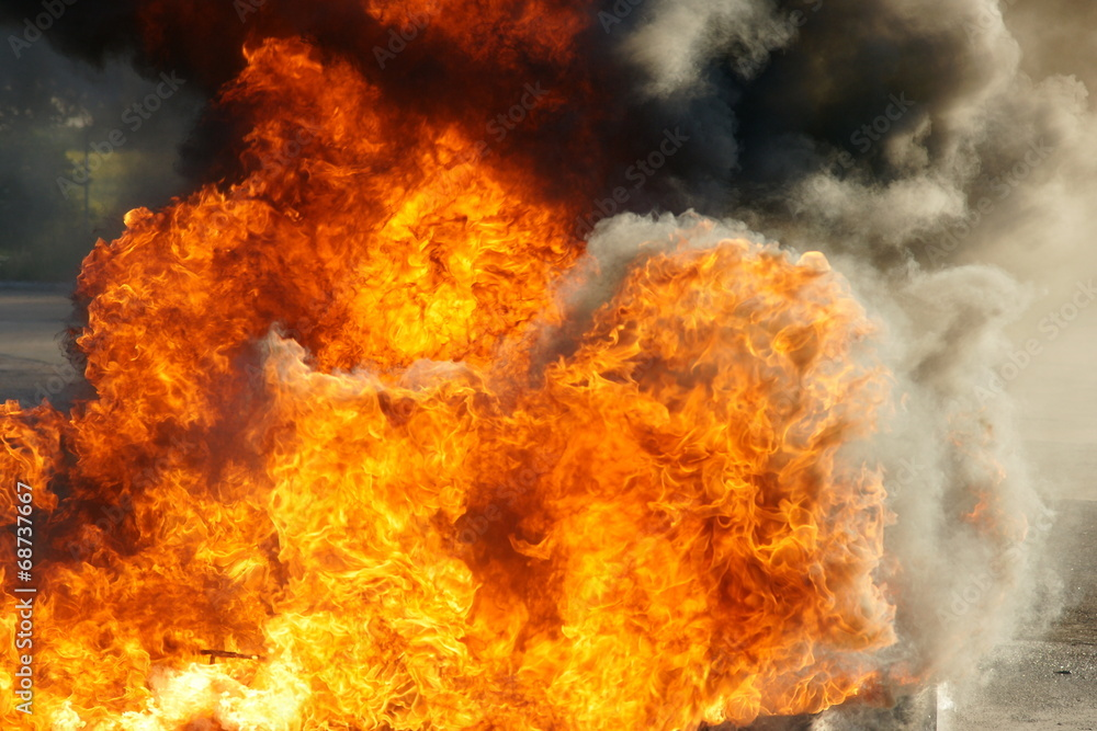 Fototapety, obrazy: explosion and fire ball