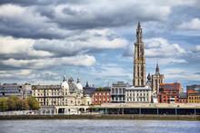 View On Center Of Antwerpen