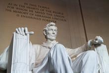 The Statue Of Abraham Lincoln, Lincoln Memorial, Washington DC