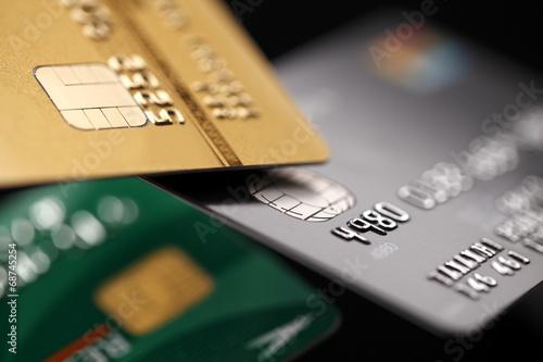 Fotografia  Credit cards close up