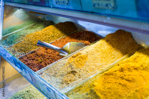Spoed Foto op Canvas Oceanië Typical spices on sale in turkish markets at Istanbul